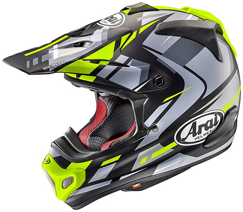 Arai V-Cross 4 Helmet Bogle Yellow